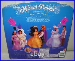 #10544 Vintage Mattel Disney Musical Princess Royal Couple Jasmine & Aladdin