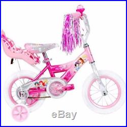 12 Huffy Disney Princess Girls' Bike with Doll Carrier toddler child bicycle