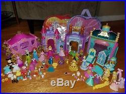 13 Disney MagiClip Polly Pocket Princess Doll Figure Castle Carriage Jasmine Lot