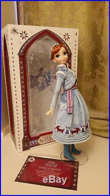 17 Limited Edition Frozen ANNA & customised ELSA doll Disney Store lot princess