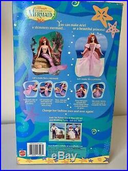 1997 Disney's Mattel The Little Mermaid Princess Mermaid Ariel Doll NIB