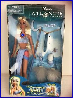 2000 Disney Atlantis Crystal Princess Kida Boxed Mint Working Necklace Doll