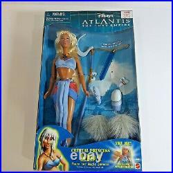 2000 Disney Atlantis The Lost Empire Crystal Princess Kida Doll Mattel #29327
