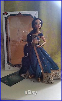 2015 Disney Store 17 Limited Edition teal JASMINE doll princess Aladdin