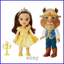 2x Disney Princess 6 inch Petite Doll Set Mulang&Shang+Beauty&Beast