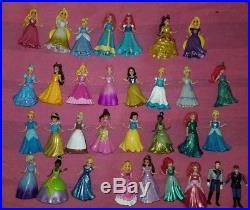 32 pcs Disney Princess Lot Magiclip Magic Clip Dolls Glitter glider LOOK! HANS