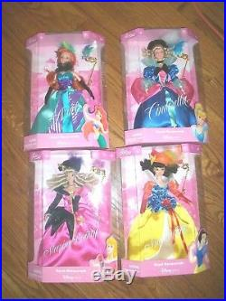 4 Disney Store Little Mermaid Royal Masquerade Ariel Doll -SnowWhiteCinderella