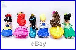 6pcs Disney Princess Cake Toppers Dolls Character Figures Toy Miniature 85mm 50