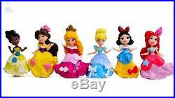 6pcs Disney Princess Mini Dolls Resin Character Figures Toy Miniature 85mm 55mm
