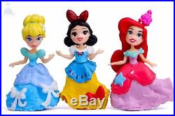 6pcs Disney Princess Mini Dolls Resin Character Figures Toy Miniature 85mm 2019