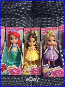 9 MINI TODDLER DOLLS My First Disney Princesses ELSA MERIDA & MORE