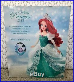 ARIEL The Little Mermaid HOLIDAY PRINCESS 2013 Collectible Mattel Doll NIB HTF