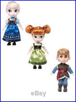 AUTHENTIC DISNEY Disney Animator Collection Mini Doll Gift Set -5''/12.7CM NIB