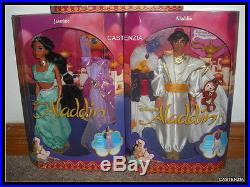 Aladdin & Princess Jasmine & Aladdin's Fashion Genie Fairytale Disney Doll NRFB