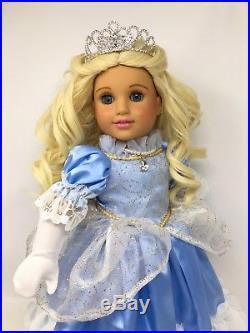 American Girl Cinderella Custom OOAK Doll Blonde Hair Blue Eyes Disney Princess
