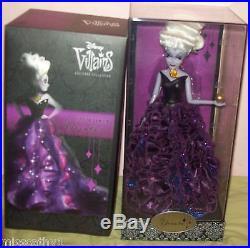 Ariel Disney Designer Princess & Ursula Villains Designer Dolls Both Nib