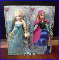 Authentic Disney Store Frozen ELSA and ANNA 12 Classic Doll Set 1st Generation