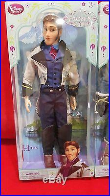 Authentic Disney Store Frozen HANS and KRISTOFF 12 Classic Doll Set 2015 Ver