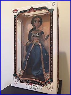 Authentic Limited Edition Disney Store Teal Princess Jasmine Doll 17