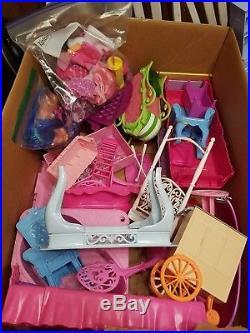 Barbie Doll Lot 60 Dolls, Disney Princess, Frozen, Clothes, Shoes 200-300 Pieces