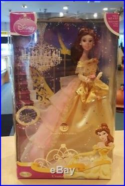 Brass Key Keepsakes Disney Princess Belle Crystal Dream Porcelain Doll New