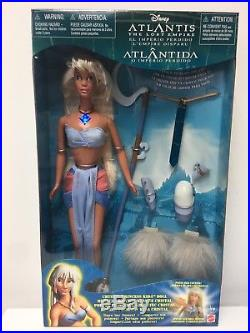 DISNEY ATLANTIS THE LOST EMPIRE 11.5 PRINCESS KIDA DOLL with GLOWING NECKLACE