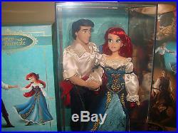 DISNEY Lil Mermaid Princess ARIEL & ERIC Doll Set Designer Fairytale Couples LE