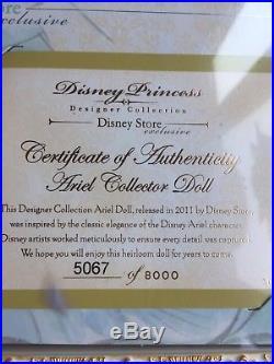 DISNEY PRINCESS 2011 Designer Collection ARIEL The Little Mermaid LE DOLL NRFB
