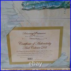 DISNEY PRINCESS Designer Collection ARIEL The Little Mermaid LE DOLL + Gift Bag