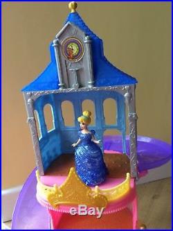 DISNEY PRINCESS Magiclip Glitter Glider Castle + Cinderella + Frozen Dolls