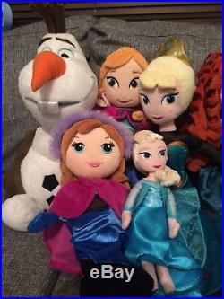 DISNEY PRINCESS SOFT TOY PLUSH DOLL BUNDLE X 10 all v good cons all Disney store