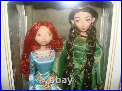 DISNEY Pixar BRAVE Princess MERIDA & QUEEN ELINOR Doll Set LE 2500 New