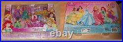 DISNEY Princess Mattel Magiclip TIANA MERIDA AURORA 6 Puppen CDR73 Set dolls