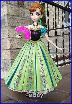 DISNEY STORE Frozen PRINCESS ANNA CORONATION LE 17 DOLL OOAK 16 Limited Edition