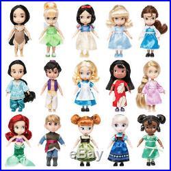 DIsney Store ANIMATORS' Mini 5 Doll Collectors GIFT SET of 15 Lilo RETIRED 2016