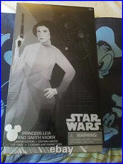 Darth Vader and Princess Leia Star Wars Doll Set Disney Store 2017 D23 Expo LE
