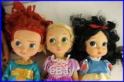 Disney 16 Animator Princess Toddlers Dolls Lot of 6 Elsa Anna Merida Pocahonta