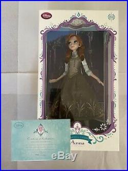 Disney 17 Frozen Princess Anna Green Dress Limited Edition LE 5000 Doll NEW NIB
