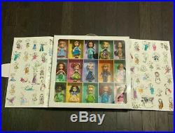 Disney 2015 ANIMATORS Collection Gift Set of 15 5 Mini Dolls in Sealed Box HTF