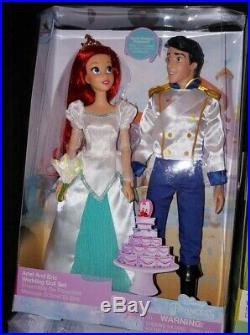 Disney 2019 ARIEL & ERIC WEDDING DOLL SET Brand NEW BEAUTIFUL