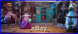 Disney Animator Doll Box Set Flynn Rider Rapunzel Maximus Wardrobe Collection
