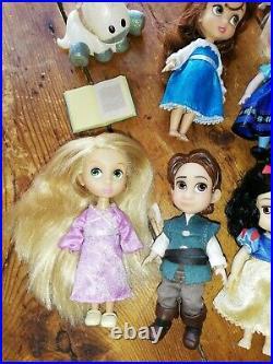 Disney Animator Mini 5 Dolls Set Moana Merida Mulan Elsa Anna Belle Aurora etc