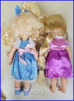 Disney Animators Collection Dolls Merida Rapunzel Tiana Anna Lot Princess