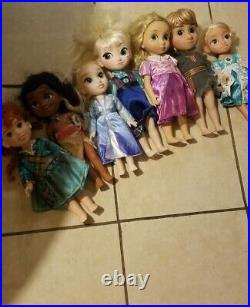 Disney Animators Dolls Collection Huge Lot of 7! Pre Owned As is