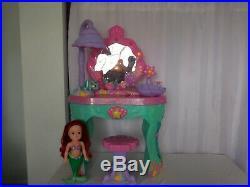 Disney Ariel Little Mermaid Magical Talking Vanity + Mermaid Doll + CD player +