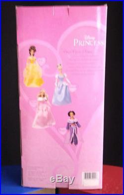 Disney Barbie Holiday Princess Dolls 5 lot Snow White Cinderellas Jasmine Belle