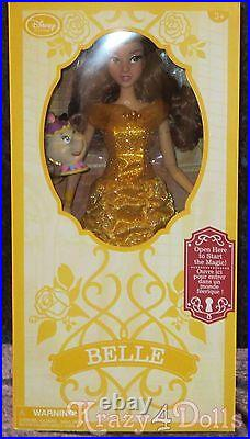 Disney Beauty and Beast, Belle Deluxe 16 Interactive Doll with Singing Mrs. Potts