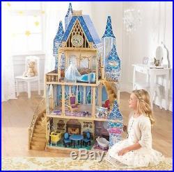 Disney Cinderella Castle Doll House 5 Rooms 11 PC Royal Furniture Gold Door LQQK