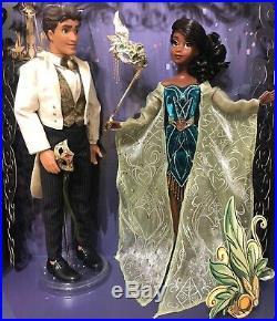 Disney D23 Doll Tiana Naveen Le 900 Midnight Masquerade Princess And The Frog