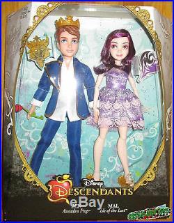 Disney Descendants Ben And Mal Doll Set 2 Pack Isle Of The Lost Auradon